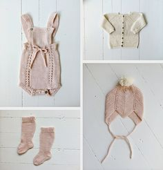 And a lot of inspirational knitting for babies and children. Knitting For Kids, Baby Knitting Patterns, Knitting Projects, Baby Girl Fashion, Kids Fashion, Brei Baby, Knitted Baby Clothes, Crochet Bebe, How To Purl Knit