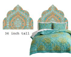 Moroccan Nights  Turquoise and Orange Wall Decal by gLaMaPeeL, $75.00
