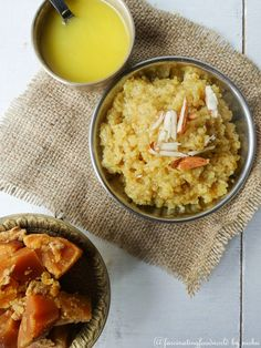 Lapsi - Gur ka Daliya (Broken wheat Porridge with Jaggery) Notes: Use warmed milk instead of water.