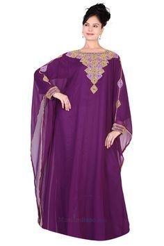 Farasha - Designer - Abaya - Design - 4 - Purple - Size - 54 Kaftans, Abayas, Caftan Dress, I Dress, Abaya Designs, Casablanca, Cover Up, Magic, Purple