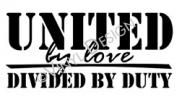 united military decal//Been there done that.  It's rough.