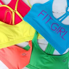 It's a sports bra rainbow! Fresh colours for fresh workout feels - Which one's your favourite?
