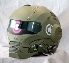 #Masei 610 ironman #gundam zaku #green motorcycle helmet all sizes available,  View more on the LINK: http://www.zeppy.io/product/gb/2/322294224291/