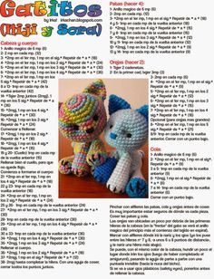 Este es el regreso de los patrones gratis!!!   Hace mucho que no diseñaba nada nuevo, porque -la verdad- hay tantos diseños distintos espect... Crochet Triangle Pattern, Crochet Doll Pattern, Crochet Patterns Amigurumi, Love Crochet, Crochet Baby, Knitted Animals, Stuffed Toys Patterns, Crochet Projects, Knitting