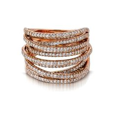 Rose Gold and Diamond Ring available at Houston Jewelry!