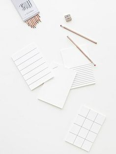 gorgeous grey and white grid pattern stationery and pure pencils Flatlay Instagram, Flat Lay Photography, Minimalist Photography, Stationery Design, Stationery Paper, White Aesthetic, Fashion Books, Paper Goods, Grey And White