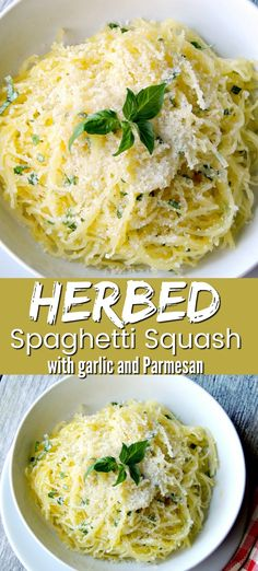 Low calorie recipes 342625484155017622 - Herbed Spaghetti Squash with Garlic and Parmesan is Keto friendly, Low-carb, Gluten-free, vegetarian, and a perfect side dish for any protein. Keto Side Dishes, Veggie Dishes, Side Dish Recipes, Vegetable Recipes, Food Dishes, Recipes For Squash, Vegetarian Side Dishes, Dessert Recipes, Low Carb Dinner Recipes
