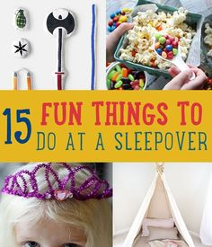 15 Fun Things to Do at a Sleepover | Easy DIY Party Ideas For Kids By DIY Ready. http://diyready.com/15-fun-things-to-do-at-a-sleepover/