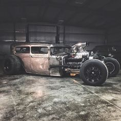 The majority of people building a rat rod now are actually employing this apparatus. A Rat Rod is a kind of car that's built with the support of old stuff. Rat Rod Cars, Rat Look, Us Cars, Vintage Trucks, Street Rods, Kustom, Custom Cars, Concept Cars, Rats