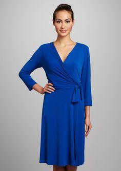 DONNA MORGAN Side Tie Pleat Detail Dress