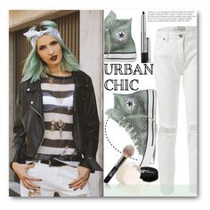"""""""Urban chic"""" by stylemoi-offical ❤ liked on Polyvore featuring Converse, Marc Jacobs, It Cosmetics, women's clothing, women's fashion, women, female, woman, misses and juniors"""