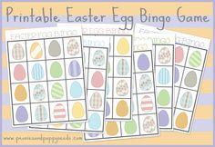 Easter Egg Bingo Free Printable Game