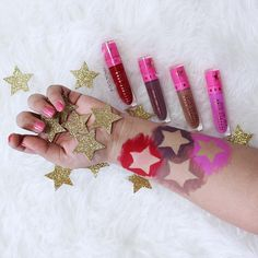 Jeffree Star Cosmetics Swatches of Redrum, Scorpio, Posh Spice and Queen Supreme. Jeffree Star Liquid Lipsticks swatches