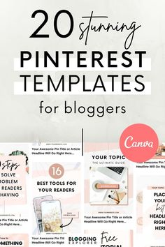 Do you want to create beautiful Pinterest graphics that convert into massive blog traffic within minutes? Then grab these stunning premium Canva Pinterest templates for bloggers that are fully editable to fit your brand, niche, and audience. Stop wasting your time tweaking your own designs, and use your precious time on more productive blogging tasks starting today! The bundle includes two helpful FREE bonuses – check them out! #bloggingexplorer #pinteresttemplates #pinteresttips… Online Marketing, Social Media Marketing, Business Marketing, Content Marketing, Affiliate Marketing, Digital Marketing, Business Tips, Online Business, Graphic Design Tools