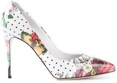 cf6879397 How to wear Floral Pumps | Dolce & Gabbana Floral Print Pumps Estilo De  Sapatos,