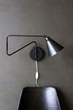 Wall Mounted Directional Task Light - Black  White