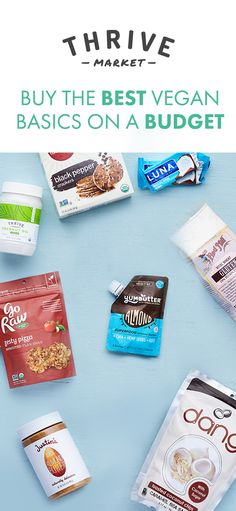 Thrive Market sells your favorite vegan products for up to 50% off retail. Join today to get an EXTRA 20% off your first purchase.