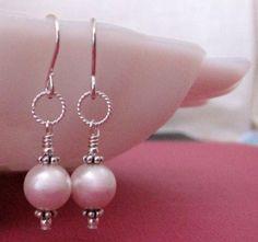 Shoply.com -Elegant White Pearl Silver Earwire Earrings. Only $13.00