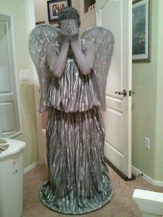 Homemade Weeping Angel Costume