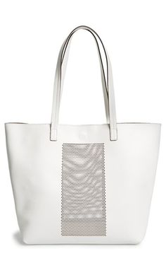 62d7686094 Sole Society Laser Cut Panel Faux Leather Tote