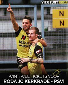 Win 2 tickets voor Roda JC - PSV!  #RodPSV Hoe kun je winnen? 1. Volg @instarodajc  2. Tag jouw Roda maatje  De prijswinnaar wordt op maandag 16 april bekend gemaakt!  #RodPSV #Winnen #Eredivisie