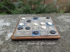 Seega Game Board in Celtic Style made of by GameboardAndTiles, $52.00