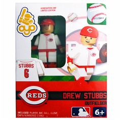 Cinncinati Reds Drew Stubbs Collectible Mini Figure - MLB.com Shop.... i need all of these mini reds lego figures