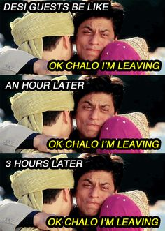 On farewells. | 19 Painfully Accurate Pictures Every Desi Will Relate To