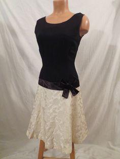 FIFTIES FLAPPER black white brocade dress - $30 at JOHNNY BOMBSHELL #vintage #flapper #gatsby