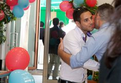 15 years Birthday of Jservice: kiss  between business men!