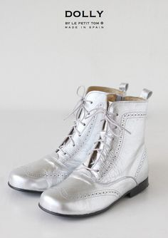 DOLLY by Le Petit Tom ® CLASSIC DOLL BOOT 9GBOOT SILVER Leather
