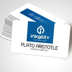 Silk Laminated BusinessCards from @inkgility