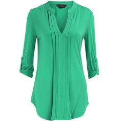 Green pleat front top - Dorothy Perkins - Polyvore