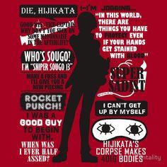 """Gintama - Okita Sougo Quotes"" T-Shirts & Hoodies by Fantality | Redbubble"