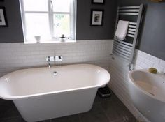 Grey and White bathroom design