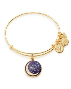 With a tiny but meaningful charm, this Alex and Ani bangle celebrates a love that knows no bounds. Alex and Ani will donate 20% of the purchase price from Stellar Love bangle sold, with a minimum dona