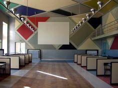 L'Aubette restored dance Hall, Strasbourg - Sophie Taeuber-Arp, Theo van Doesburg, Hans Arp