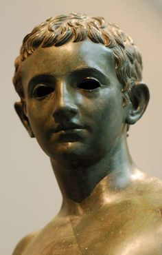 Julio-Claudian bronze of a boy the Met Museum, NY  http://www.romancoins.info/Sculptures5.html