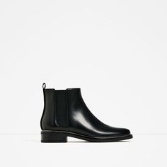 Image 2 of STRETCH LEATHER ANKLE BOOTS from Zara