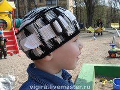 """Купить Шапочка """"Чаплин"""" - детская шапочка, шапочка вязаная, 100% мерсеризованный хлопок"""