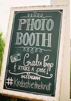 We just love the chalkboard signs that we can customize to your event!