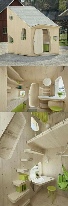 Architecture - Innovation & Design - A student flat of only 10 square meters is currently exhibited at the Virserum Art Museum in the county Småland, Sweden. Tree Tent, Best Tiny House, Tiny Spaces, Small Space, Tiny House Design, Little Houses, Play Houses, Future House, Architecture Design