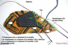 Печворк спицами. Варежки. МК. : goddees — ЖЖ Knitted Hats, Crochet Hats, 7 And 7, Beanie, Knitting, Dots, Breien, Knitting Hats, Tricot