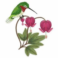 Hummingbirds & Flowers 08(Md) machine embroidery designs