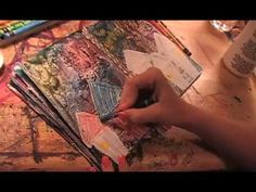 Art Journaling Video Tutorial: Soar Art Journal Page Part 2 - YouTube