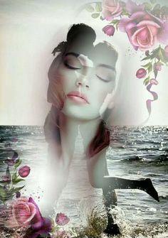 Tu un sogno e tale resterà Fra Cate Double Exposition, Beautiful Romantic Pictures, Double Exposure Photography, Love Images, Love Is All, Love Art, Female Art, Creative Art, Color Splash