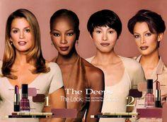 Kara Young, Retro Ads, Vintage Velvet, Cindy Crawford, Make Me Up, Revlon, Vintage Beauty, Most Beautiful Women, 90s Fashion