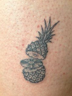 magpiefeed: Hand poked ananas on Olle. Berlin. By Magpie Feed