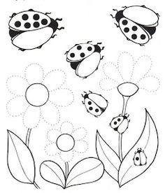 """""""Παίζω και μαθαίνω στην Ειδική Αγωγή"""" efibarlou.blogspot.gr: Γραφικές ασκήσεις λεπτής κινητικότητας Weather Activities For Kids, Spring Activities, Art Worksheets, Kindergarten Worksheets, Flower Coloring Pages, Colouring Pages, Preschool Writing, Preschool Activities, Baby Ladybug"""