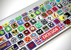 Comic Book Superhero Skin for MacBook Keyboard
